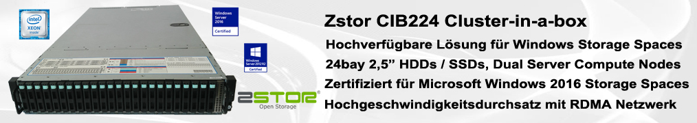 Zstor CIB224 CiB Cluster-in-a-box