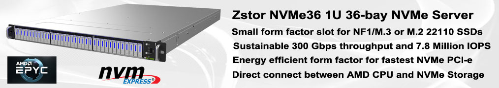 Zstor NVMe36 All Flash Array NVMe e