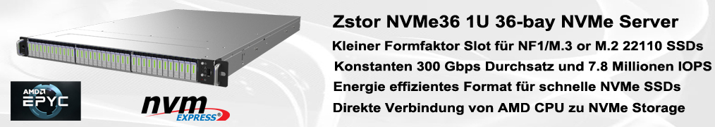 Zstor NVMe36 All Flash NVMe