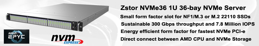 Zstor NVMe36 All Flash NVMe e